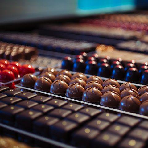 chocolade en ijs